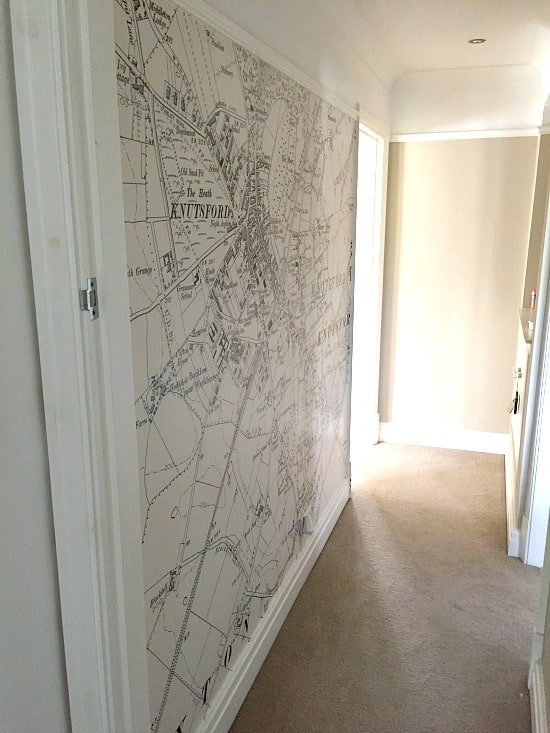 best way to hang wallpaper on a feature wall