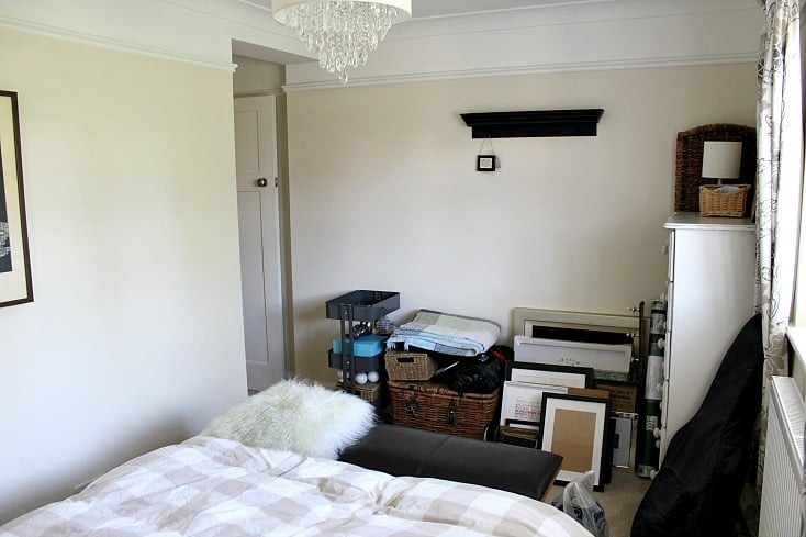 Guest bedroom before makeover