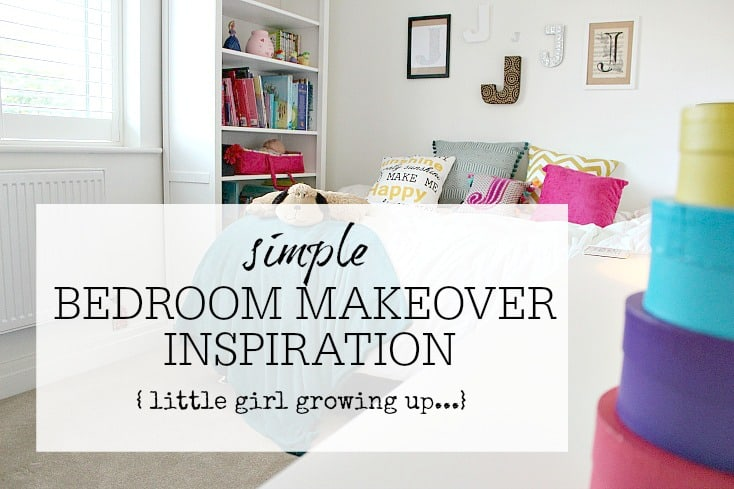 Little Girls Bedroom Makeover - from little girl to pre teen