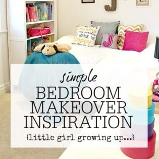 Childrens bedroom makeover - inspiration and tips to create a big girls room