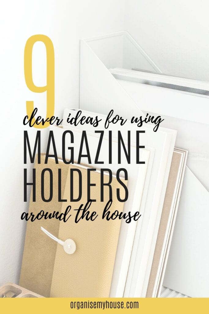 9 Clever Ideas For Using Magazine Holders As Storage Around The House