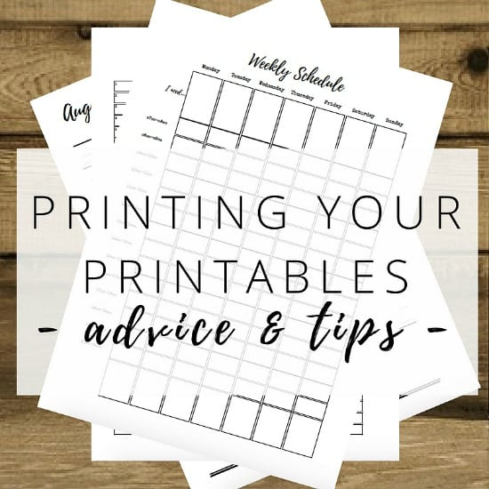 Printable printing tips and advice