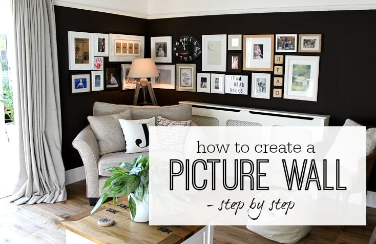 How to create a picture wall / Gallery wall - step by step - tips and ideas