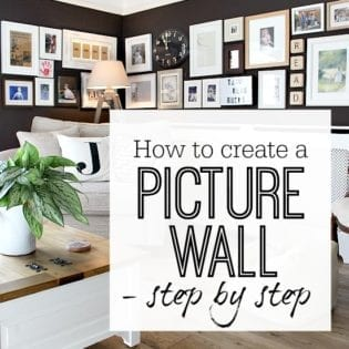 Picture wall - Gallery wall - How to - Step by Step