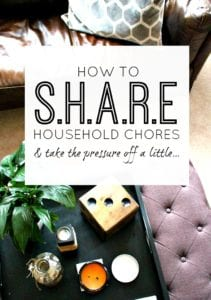 Fantastic ways to share household chores easily - some you may well have never thought of. Take the pressure of your homekeeping/homemaking and get things done.