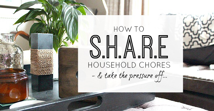 How to share household chores and take the pressure off yourself a little