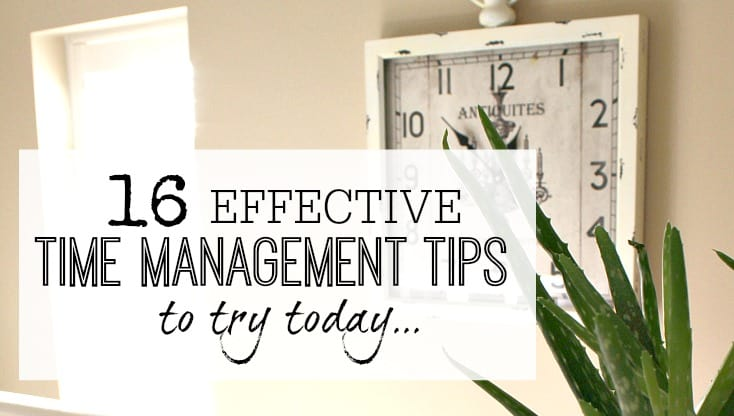 16 effective time management tips to try today