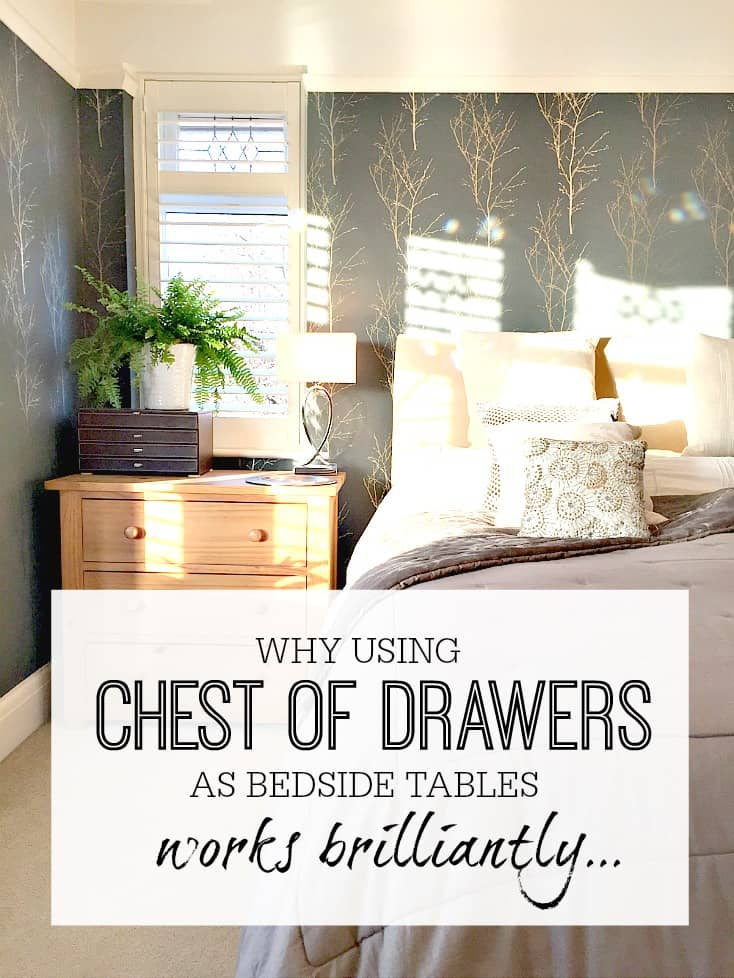 why chests of drawers work brilliantly instead of bedside tables Different Bedside Tables