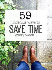Fantastic ways to save time every week so you have more time to do whatever you want! Time saving tips made easy