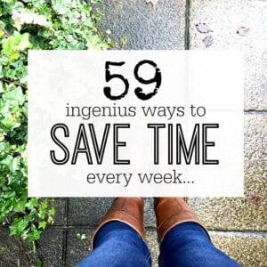 Ways to save time. Time saving tips.
