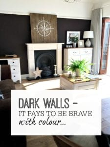 Dark walls for painting - interior design inspiration - examples of how dark colours work really well for decor - using deep colours in a room - home style - home design