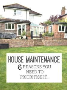 Why House Maintenance is so important - reasons why you should always stay on top of your home - otherwise you may well regret it.