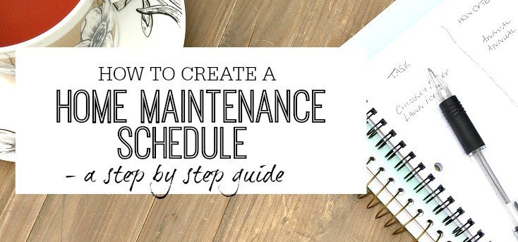 Home Maintenance schedule - creation