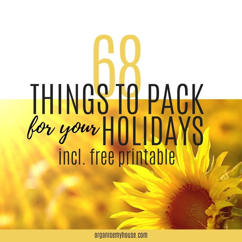 Summer Holiday Checklist - 68 Items You Should Consider Packing - free printable