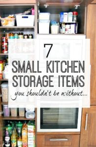 7 fantastic kitchen storage items that will transform your cupboards for the better. Make your kitchen look and work amazingly for you with these small kitchen storage solutions