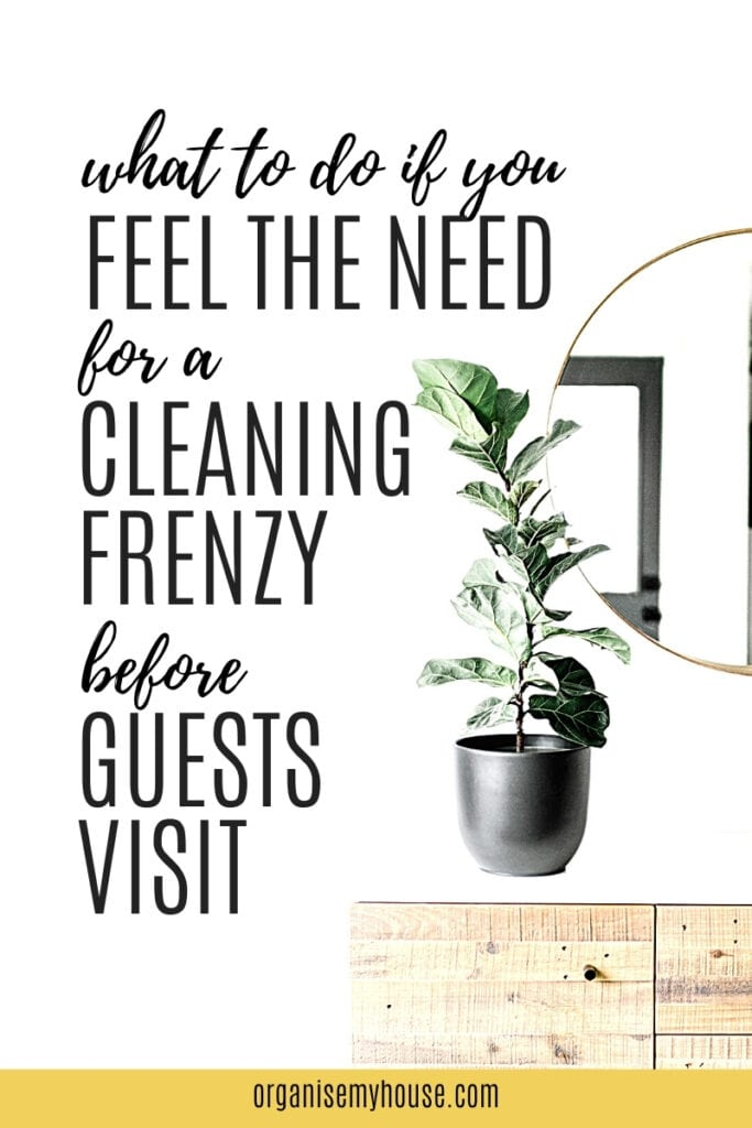 Do You Feel The Need For a Cleaning Frenzy Before Guests Arrive