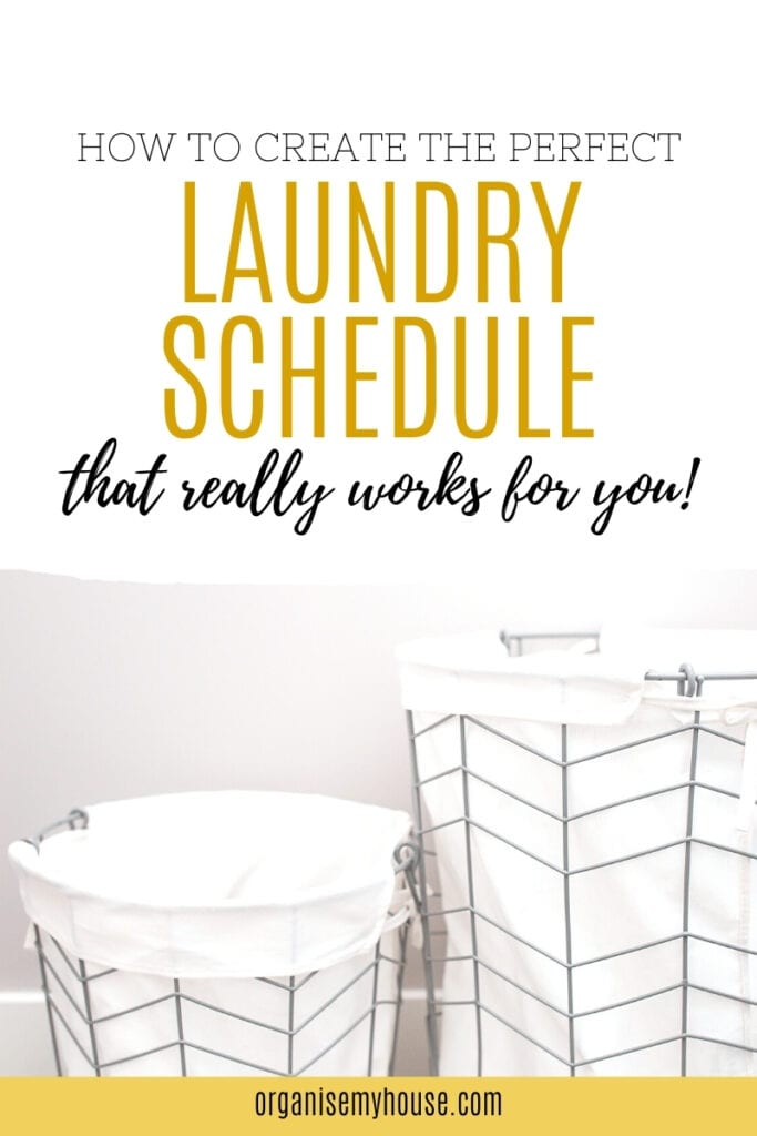 How To Create The Perfect Laundry Schedule - One That Really Works