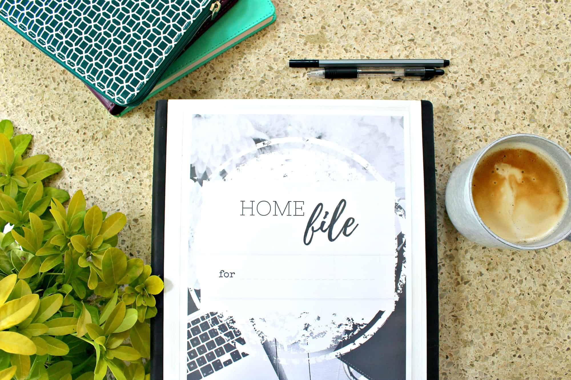 Home File - Home Management Binder - Front cover image