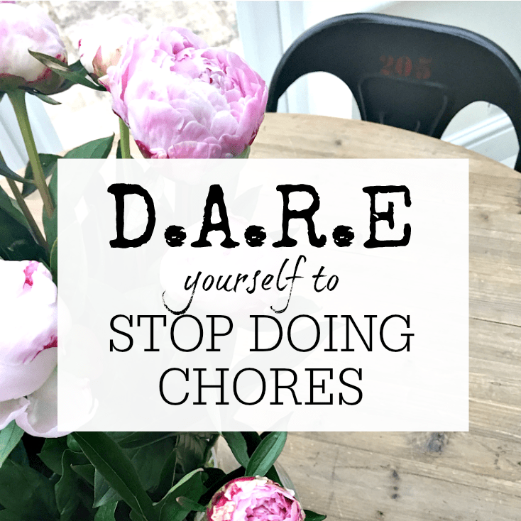 D.A.R.E YOURSELF TO STOP DOING CHORES (AT LEAST A FEW OF THEM!)