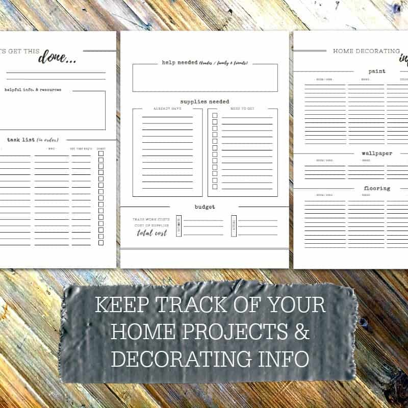 Home Maintenance Planner - part of the Home Management Binder - Home File - 4