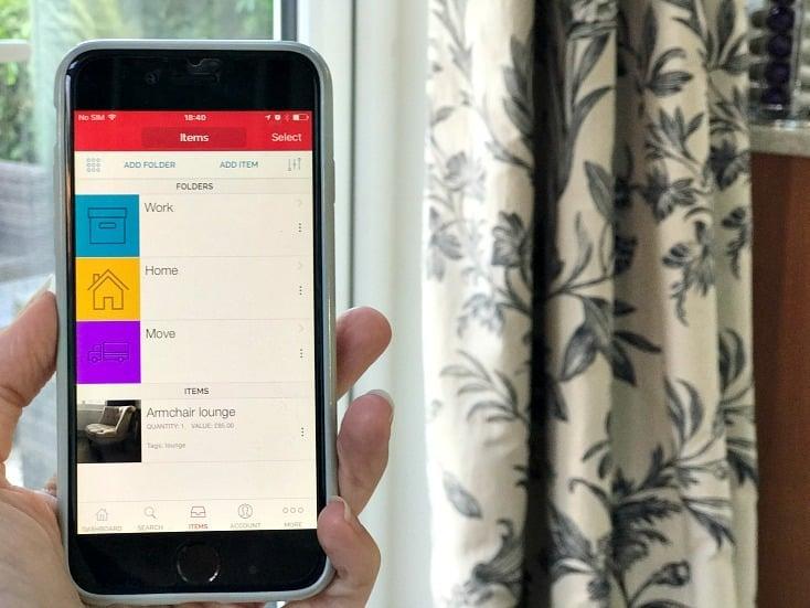 Sortly app - folder set up and items management