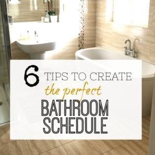 Bathroom Schedule Tips