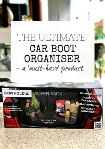 Car boot organiser - organising product - ways to prevent spills and damage in the trunk of your car