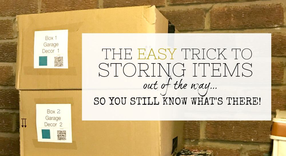 How to store items out of the way - deep storage