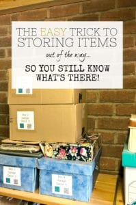 How to store items out of the way but still know what's there. Organising your storage so you know what you have and where. Home inventory for stored items