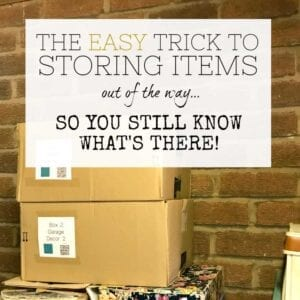 How to store items out of the way - deep storage - Sortly app