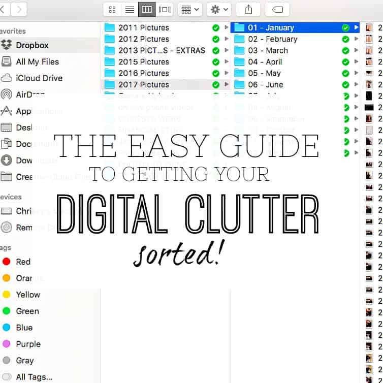 THE EASY GUIDE TO GETTING YOUR DIGITAL CLUTTER SORTED