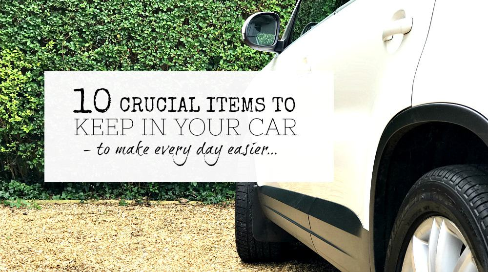 Crucial items to keep in your car - items you should keep in the car