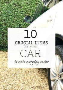 Car organising - Crucial items to keep in your car