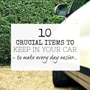 Items to keep in your car