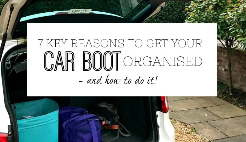 Get your car boot organised