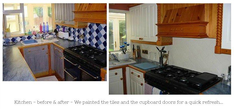 Kitchen refresh before and after pictures