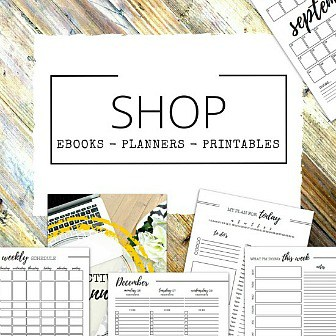 Printable planners and eBooks