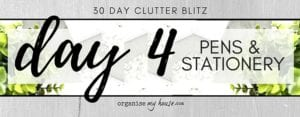 Day 4 of the 30 day declutter challenge