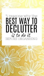 The best way to declutter is by doing things in the right order. I have created a method that works EVERY TIME - and this post talks about one of the most crucial parts of decluttering so you get it right, avoid overwhelm, and have fun!