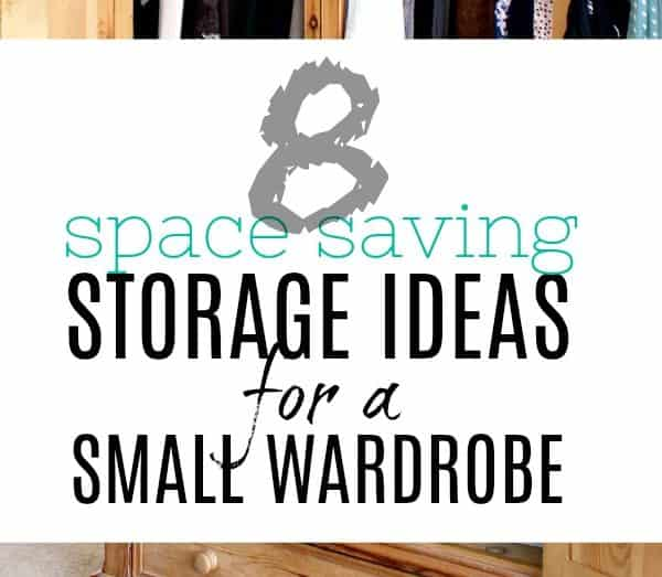 Storage ideas for small wardrobe