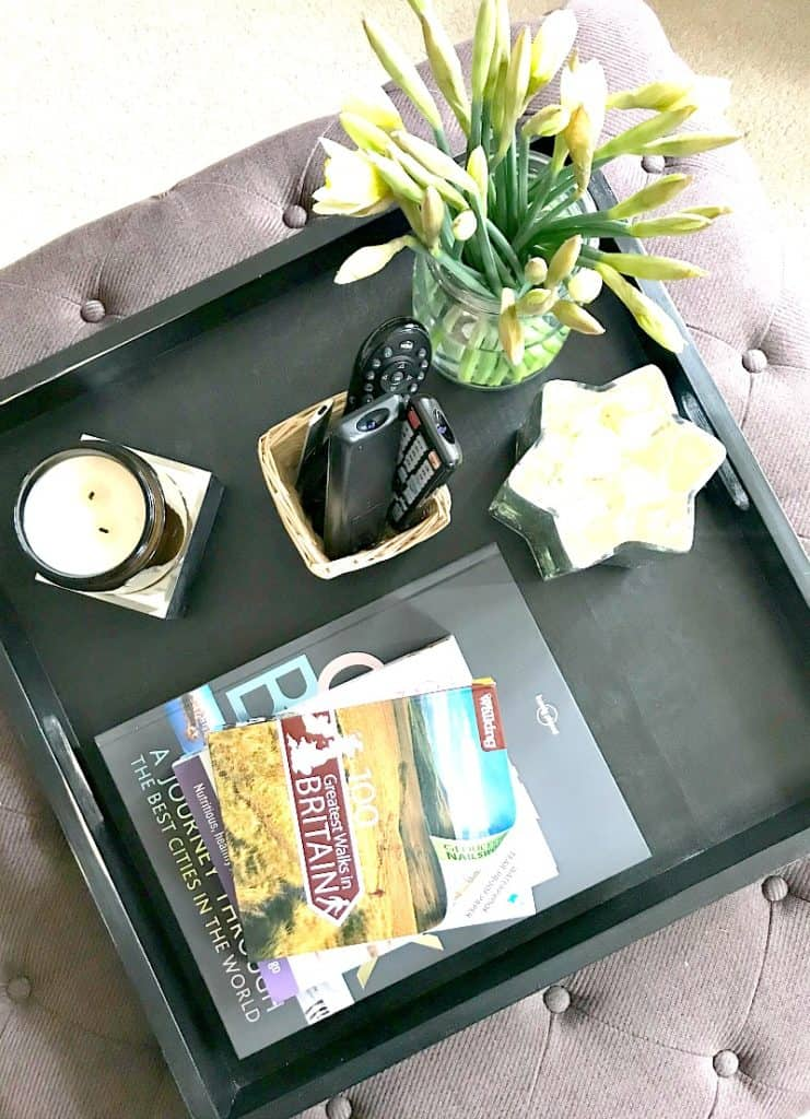 living room tray from overhead