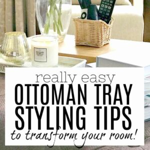 Phenomenal Really Easy Ottoman Tray Styling Tips And Ideas That Really Ncnpc Chair Design For Home Ncnpcorg