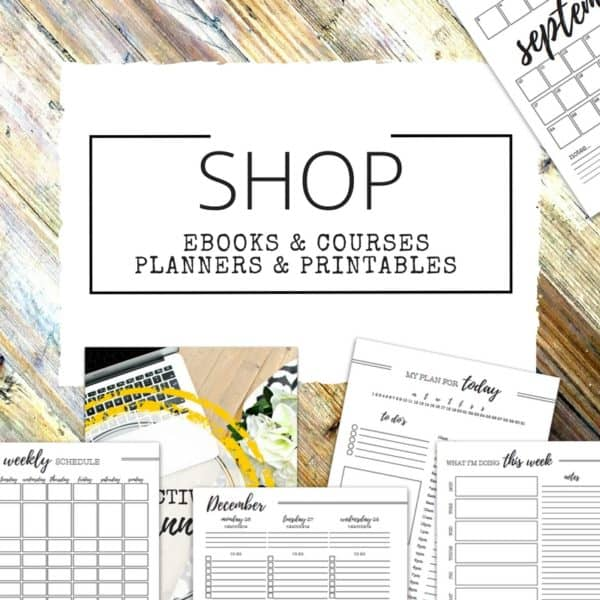 Organising Products for Life and Your Home - Planners, Printables and Courses