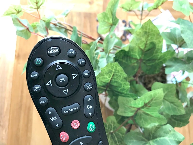 Remote control with plant background