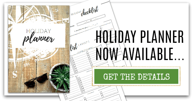 Advert for the Holiday Planner Printables