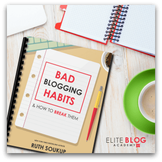 8 Bad Blogging Habits - FREEBIE!