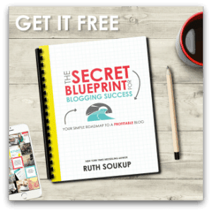 Secret blueprint to blogging success - picture of the freebie