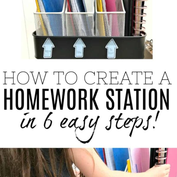 HOW TO CREATE A DIY HOMEWORK STATION THAT'S BACK TO SCHOOL READY (IN 6 EASY STEPS!)