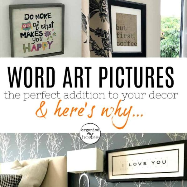 Gorgeous word art pictures for your home