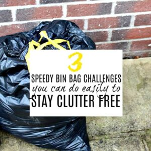 Bin bag with yellow handle and text overlay of article title